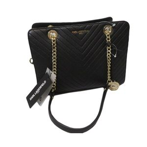 KARL LAGERFELD Charlotte Quilted Leather Tote Ba